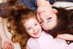 Little girl and her mother Royalty Free Stock Images