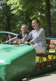Little girl and her mother having fun. Royalty Free Stock Image