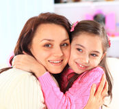The little girl with her mother Stock Photography