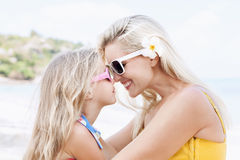 Little girl and her mother Stock Images