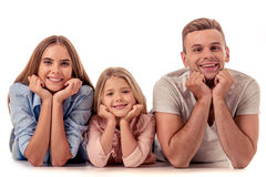 Little girl and her parents Stock Image