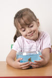 Little girl and her pet Stock Photo