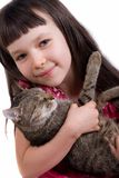 Little girl with her pet Stock Photo