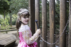 Little girl in her princess costume Royalty Free Stock Images