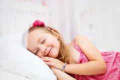 Little girl in her room Stock Image