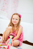 Little girl in her room Royalty Free Stock Photography