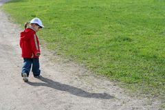 Little girl and her shadow Stock Photography
