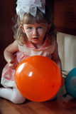 Little Girl Hide and Seek Royalty Free Stock Images