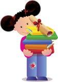 Little girl hiding stock illustration