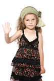 Little girl high five salute Stock Photo