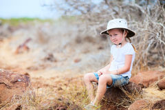 Little girl on a hike Royalty Free Stock Photos
