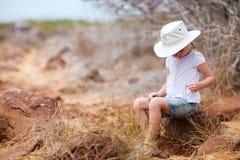 Little girl on a hike Stock Photos