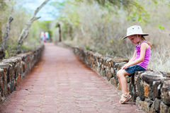 Little girl on a hike Royalty Free Stock Photo