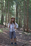 Little girl hiker Stock Photos