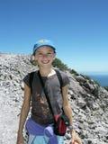 Little Girl Hiking. On Mt. Lassen Stock Photography