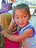 Little girl hill tribe. At Mon Jam Hill in Chiang Mai, Thailand royalty free stock images
