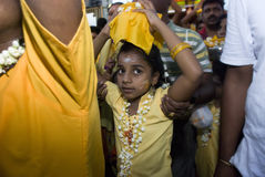 Little girl Hindu devotee Royalty Free Stock Photos