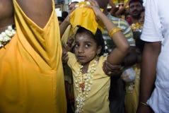 Little girl Hindu devotee Royalty Free Stock Photos