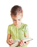 Little girl hold book in hands Stock Photo