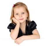 Little girl holding a blank sign Stock Photos