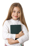 Little girl holding book Royalty Free Stock Photos