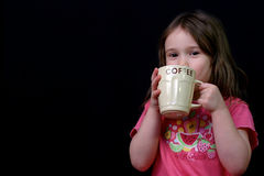 Too young for coffee Stock Photography