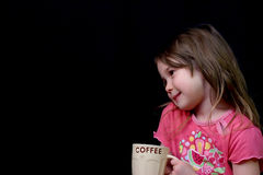 Too young for coffee Royalty Free Stock Photo
