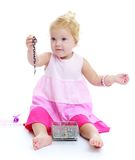 Little girl holding a decoration Royalty Free Stock Images