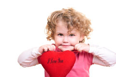 Little girl holding heart Royalty Free Stock Image