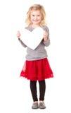Little girl holding heart Royalty Free Stock Photo