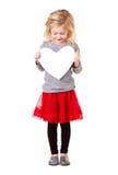 Little girl holding heart Royalty Free Stock Image