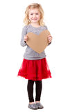 Little girl holding heart Stock Photography