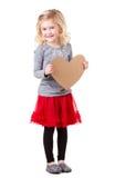 Little girl holding heart Stock Images
