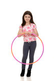 Little girl holding hula hoop Stock Photography