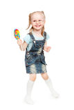 Little girl holding a lollipop Stock Photography
