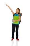 Little girl holding notebooks Stock Photos