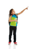 Little girl holding notebooks Stock Image