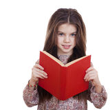 Little girl holding red book Stock Image