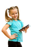 Little girl holding Tablet PC. Stock Images