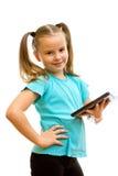 Little girl holding Tablet PC. Stock Images