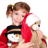Little girl holding teddy-bear Royalty Free Stock Image