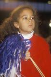 Little girl holds pom pom Stock Photo