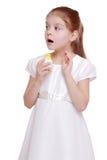 Little girl on Holiday theme Stock Photo