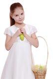 Little girl on Holiday theme Stock Photos