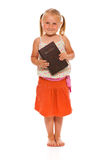 Little girl with holy bible Royalty Free Stock Photo