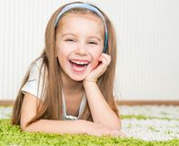 Little girl at home Royalty Free Stock Photos