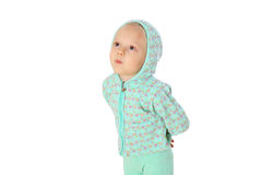 Little girl in a hood Royalty Free Stock Images