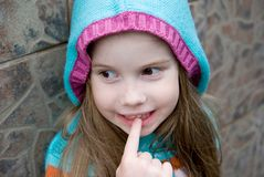 Little girl in the hood Royalty Free Stock Photos