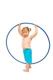 The little girl with a hoop Royalty Free Stock Photography