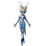 Little girl with horns dancing 5. Little girl with big eyes and horns dancing Stock Images